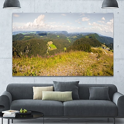 DesignArt 'Black Forest Germany Panorama' Photographic Print on Wrapped Canvas
