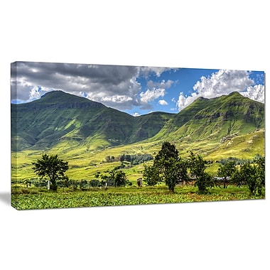 DesignArt 'Lesotho Mountains Panorama' Photographic Print on Wrapped Canvas; 20'' H x 40'' W x 1'' D