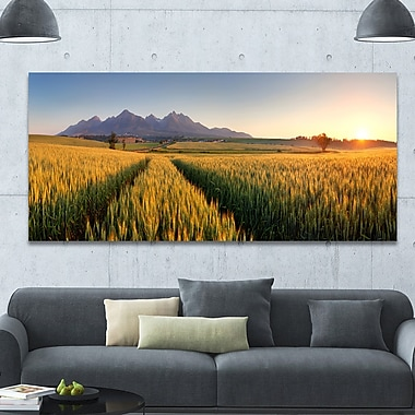 DesignArt 'Path in the Wheat Field' Photographic Print on Wrapped Canvas; 28'' H x 60'' W x 1.5'' D