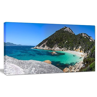 DesignArt 'Small Hidden Bay Panorama' Photographic Print on Wrapped Canvas; 20'' H x 40'' W x 1'' D