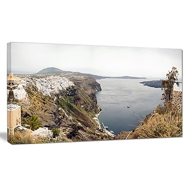 DesignArt 'Beautiful View of Santorini Island' Photographic Print on Wrapped Canvas