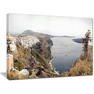 DesignArt 'Beautiful View of Santorini Island' Photographic Print on Wrapped Canvas
