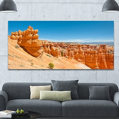 DesignArt 'Beautiful Bryce Canyon' Photographic Print on Wrapped Canvas; 28'' H x 60'' W x 1.5'' D