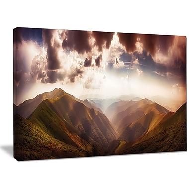 DesignArt 'Polonina Borzava Panorama' Photographic Print on Wrapped Canvas; 30'' H x 40'' W x 1'' D