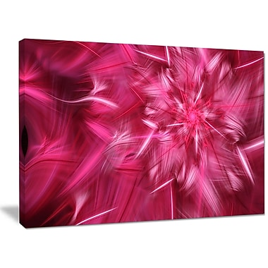 DesignArt 'Rotating Fractal Pink Fireworks' Graphic Art on Wrapped Canvas; 30'' H x 40'' W x 1'' D