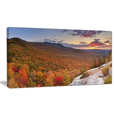 DesignArt 'Endless Forests in Fall Panorama' Photographic Print on Wrapped Canvas