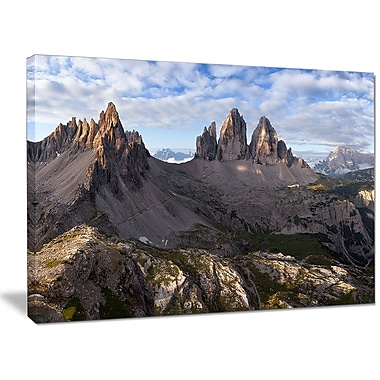 DesignArt 'Tre Cime and Monte Paterno' Photographic Print on Wrapped Canvas; 30'' H x 40'' W x 1'' D