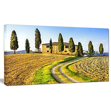 DesignArt 'Tuscany Scenery Italy' Photographic Print on Wrapped Canvas; 20'' H x 40'' W x 1'' D