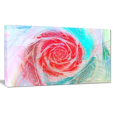 DesignArt 'Mysterious Abstract Rose' Painting Print on Wrapped Canvas; 12'' H x 20'' W x 1'' D