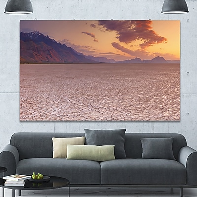 DesignArt 'Cracked Earth in Alvord Desert' Photographic Print on Wrapped Canvas