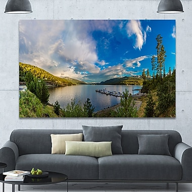 DesignArt 'Sognefjord in Norway Panorama' Photographic Print on Wrapped Canvas