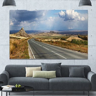 DesignArt 'Road in East Kazakhstan Panorama' Photographic Print on Wrapped Canvas