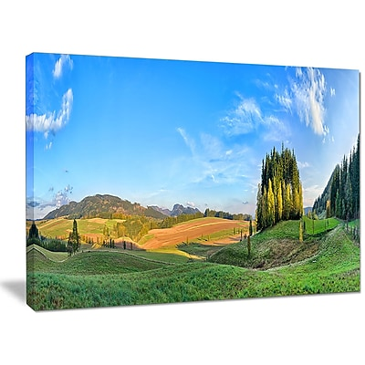 DesignArt 'Long Panorama w/ Little Forest' Photographic Print on Wrapped Canvas