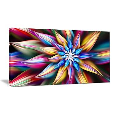 DesignArt 'Exotic Multi-Color Flower Petals' Graphic Art on Wrapped Canvas; 16'' H x 32'' W x 1'' D