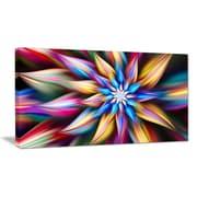 DesignArt 'Exotic Multi-Color Flower Petals' Graphic Art on Wrapped Canvas; 12'' H x 20'' W x 1'' D