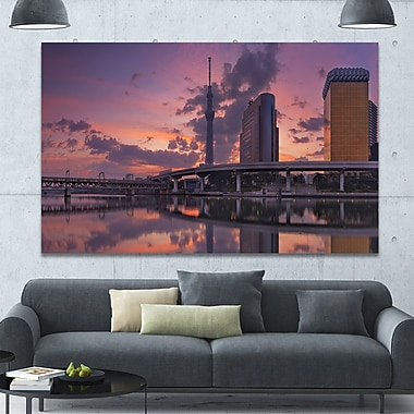 DesignArt 'Tokyo Sky Tree and Sumida River' Photographic Print on Wrapped Canvas