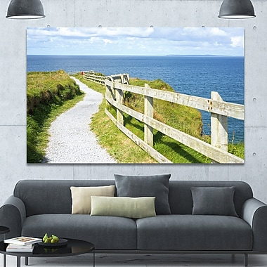 DesignArt 'Cliff Walk on Wild Atlantic Way' Photographic Print on Wrapped Canvas