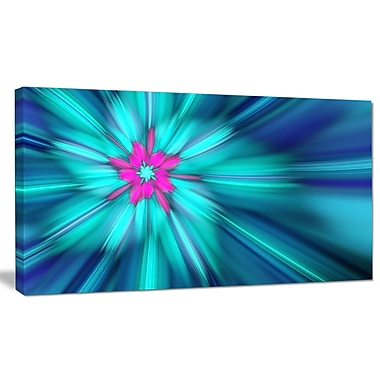 DesignArt 'Rotating Blue Fireworks' Graphic Art on Wrapped Canvas; 16'' H x 32'' W x 1'' D