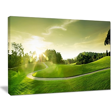 DesignArt 'Beautiful Green Valley Panorama' Photographic Print on Wrapped Canvas