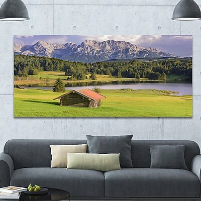 DesignArt 'Bavaria w/ Mountains and Lake' Photographic Print on Wrapped Canvas