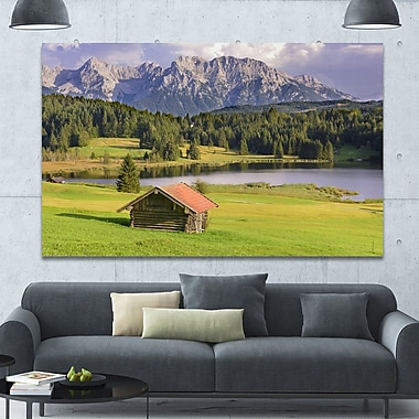 DesignArt 'Bavaria w/ Mountains and Lake' Photographic Print on Wrapped Canvas