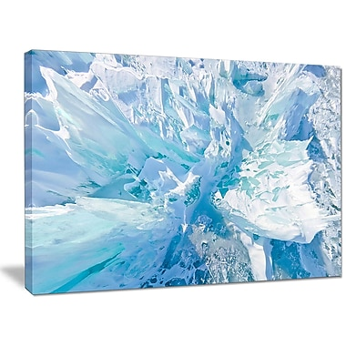 DesignArt 'Blue Ice Hummocks Baikal' Photographic Print on Wrapped Canvas; 30'' H x 40'' W x 1'' D