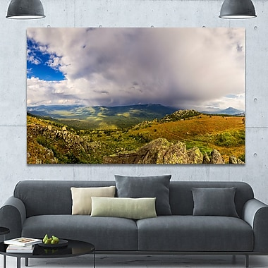 DesignArt 'Stormy Sky w/ Clouds Panorama' Photographic Print on Wrapped Canvas