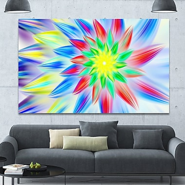 DesignArt 'Dance of Multi-Color Petals' Graphic Art on Wrapped Canvas; 40'' H x 60'' W x 1.5'' D