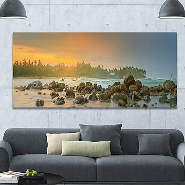 DesignArt 'Untouched Tropical Beach Panorama' Photographic Print on Wrapped Canvas