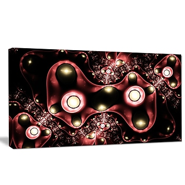 DesignArt '3D Surreal Brown Illustration' Graphic Art on Wrapped Canvas; 16'' H x 32'' W x 1'' D
