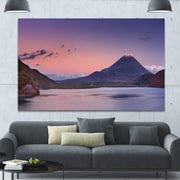 DesignArt 'Sunset at Mount Fuji and Lake Motosu' Photographic Print on Wrapped Canvas by