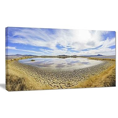 DesignArt 'Beautiful Grimshaw Lake' Photographic Print on Wrapped Canvas; 16'' H x 32'' W x 1'' D
