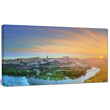 DesignArt 'Hill over the Tagus River Spain' Photographic Print on Wrapped Canvas