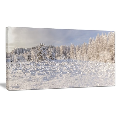 DesignArt 'Wood Winter Glade' Photographic Print on Wrapped Canvas; 12'' H x 20'' W x 1'' D
