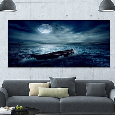 DesignArt 'Boat Drifting Away from the Past' Photographic Print on Wrapped Canvas
