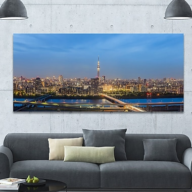 DesignArt 'Tokyo City View Panorama' Photographic Print on Wrapped Canvas; 28'' H x 60'' W x 1.5'' D