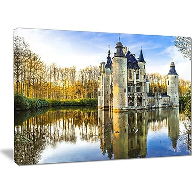 DesignArt 'Fairytale Medieval Castles' Photographic Print on Wrapped Canvas; 30'' H x 40'' W x 1'' D