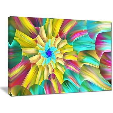 DesignArt 'Multi-Color Stained Glass Spirals' Graphic Art on Wrapped Canvas; 30'' H x 40'' W x 1'' D