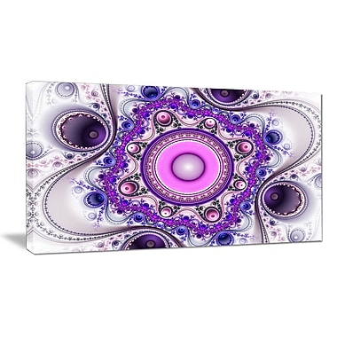 DesignArt 'Strange Flower w/ Wavy Curves' Graphic Art on Wrapped Canvas; 16'' H x 32'' W x 1'' D
