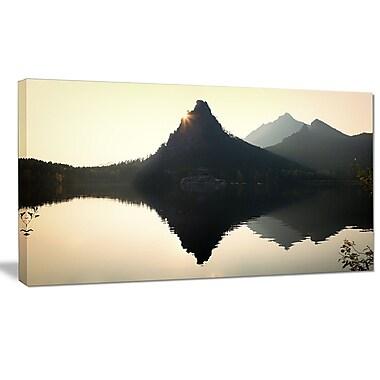 DesignArt 'National Park Burabay at Sunset' Photographic Print on Wrapped Canvas
