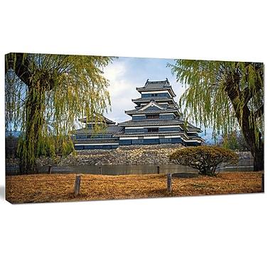DesignArt 'Matsumoto Castle Japan' Photographic Print on Wrapped Canvas; 16'' H x 32'' W x 1'' D