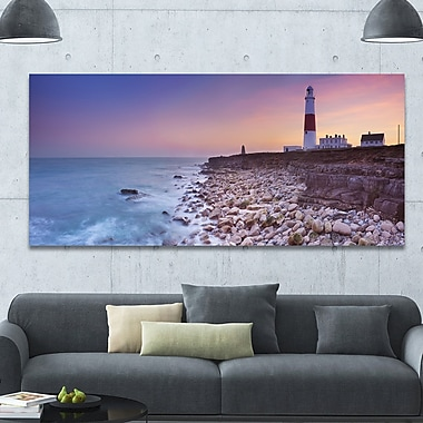 DesignArt 'Portland Bill Lighthouse in Dorset' Photographic Print on Wrapped Canvas