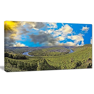 DesignArt 'Moselle River Loop in Trittenheim' Photographic Print on Wrapped Canvas