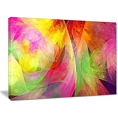 DesignArt 'Spectacular Multi-Color Pattern' Graphic Art on Wrapped Canvas; 30'' H x 40'' W x 1'' D