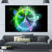 DesignArt 'Bright Blue Fractal Vortices of Energy' Graphic Art on Wrapped Canvas