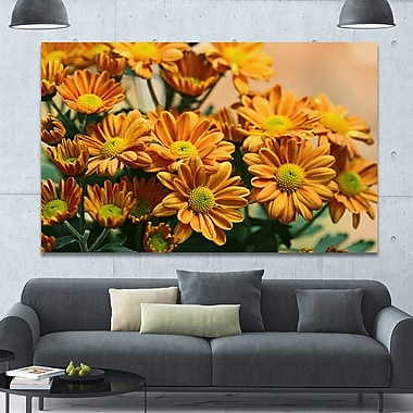 DesignArt 'Bright Yellow Flowers in Garden' Photographic Print on Wrapped Canvas