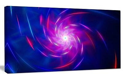DesignArt 'Blue Whirlpool Fractal Spirals' Graphic Art on Wrapped Canvas; 20'' H x 40'' W x 1'' D