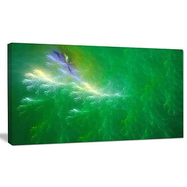 DesignArt 'Green Fractal Thunder Sky' Graphic Art on Wrapped Canvas; 16'' H x 32'' W x 1'' D