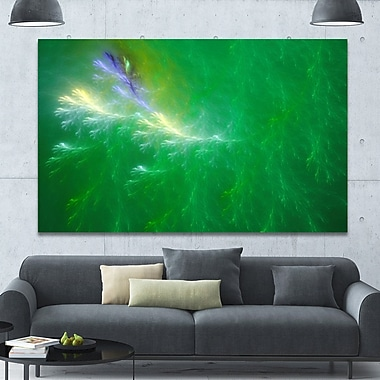 DesignArt 'Green Fractal Thunder Sky' Graphic Art on Wrapped Canvas; 40'' H x 60'' W x 1.5'' D