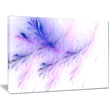 DesignArt 'Bright Blue Veins of Marble' Graphic Art on Wrapped Canvas; 30'' H x 40'' W x 1'' D